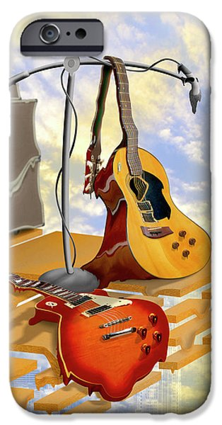 Rock Concerts iPhone Cases - Electrical Meltdown iPhone Case by Mike McGlothlen