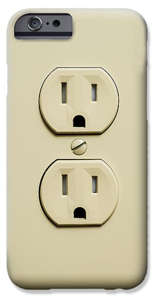 Electrical Component Photographs iPhone Cases - Electrical Outlet iPhone Case by Donald  Erickson