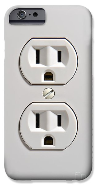 Electrical Outlet iPhone Case by Olivier Le Queinec