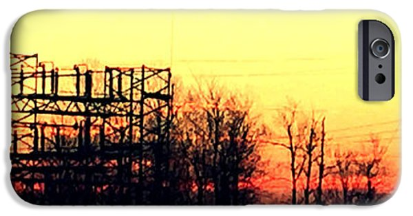 Electrical iPhone Cases - Electrical Sunrise iPhone Case by Terri Wilson