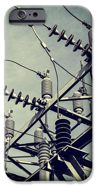 Industry iPhone Cases - Electricity iPhone Case by Edward Fielding