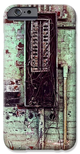 Circuit iPhone Cases - Electricity iPhone Case by HD Connelly