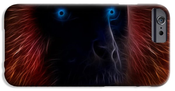 Ape iPhone Cases - Electrified iPhone Case by Aged Pixel