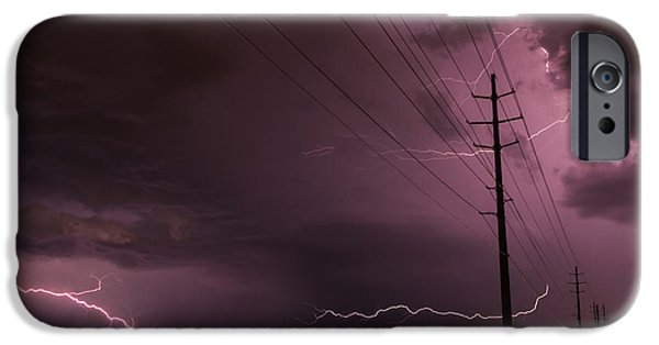 Prescott iPhone Cases - Electrified iPhone Case by Medicine Tree Studios