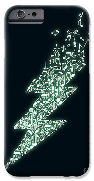 Rock And Roll Digital Art iPhone Cases - Electro music iPhone Case by Budi Satria Kwan