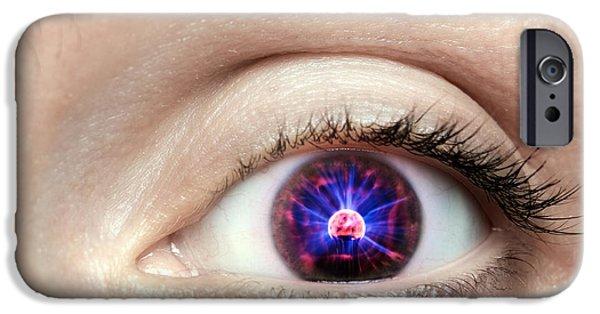 Electronic iPhone Cases - Electronic eye iPhone Case by Sinisa Botas