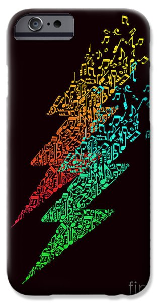 Lightning Bolts iPhone Cases - Electronic music iPhone Case by Budi Kwan