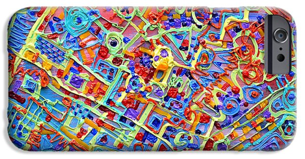 Circuit Reliefs iPhone Cases - Electronics for cats iPhone Case by Regina Valluzzi