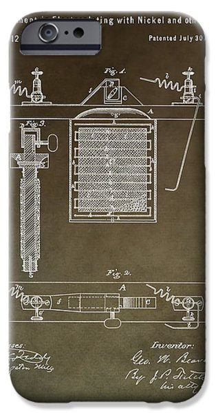 Electric Current iPhone Cases - Electroplating Procedure Patent iPhone Case by Dan Sproul