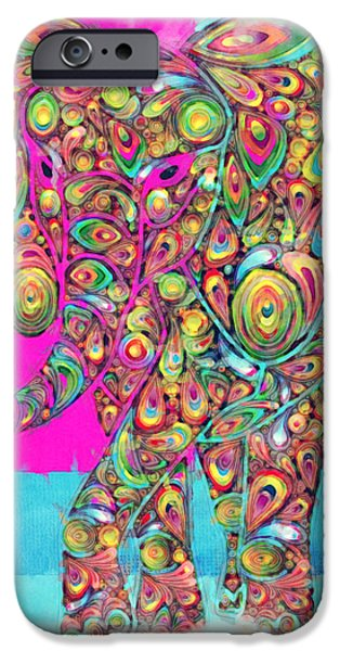 Elefantos - ptw01a iPhone Case by Variance Collections