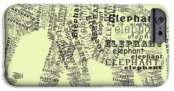 Elephant iPhone Cases - Elefont iPhone Case by Heather Applegate