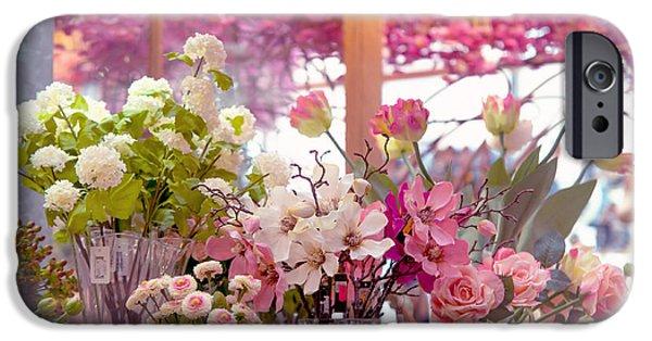 Flower Design Photographs iPhone Cases - Elegance 1. Amsterdam Flower Market iPhone Case by Jenny Rainbow