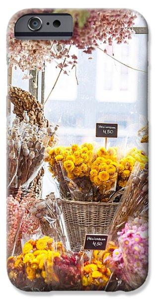 Flower Design Photographs iPhone Cases - Elegance. Amsterdam Flower Market iPhone Case by Jenny Rainbow