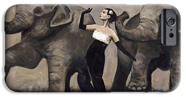 Elephant iPhone Cases - Elegance and Elephants iPhone Case by Billie Colson