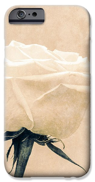 Elegance in white iPhone Case by Wim Lanclus