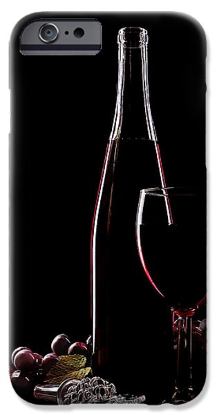 Wine Sipping iPhone Cases - Elegance iPhone Case by Marcia Colelli