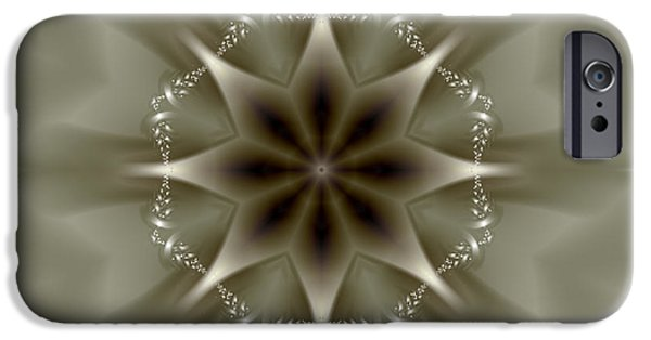 Gina Manley iPhone Cases - Elegant Fractal Kaleidoscope II iPhone Case by Gina Lee Manley