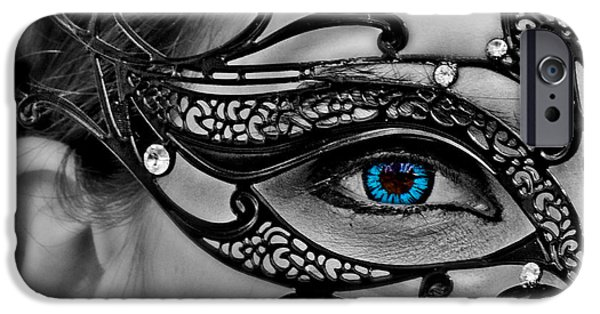 Seductive iPhone Cases - Elegant Mask iPhone Case by Tom Gari Gallery-Three-Photography