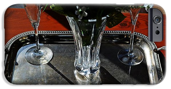 Wine Service Photographs iPhone Cases - Elegant Service  iPhone Case by JW Hanley
