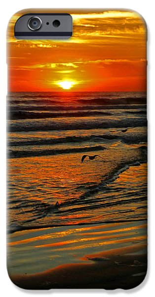Sand Castles iPhone Cases - Elegant St. Augustine Sunrise V iPhone Case by Phil King