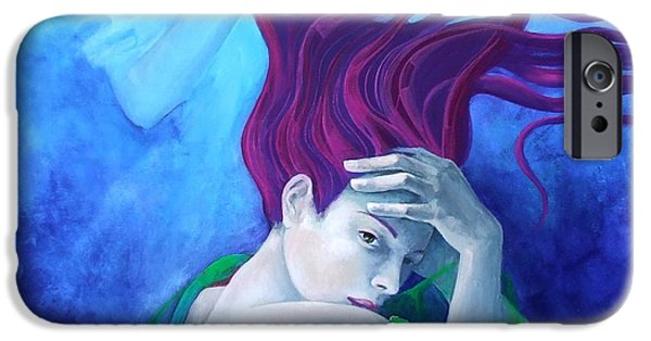 Cage Paintings iPhone Cases - Elegy iPhone Case by Dorina  Costras