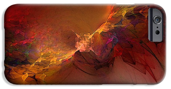 Poetic iPhone Cases - Elemental Force-Abstract Art iPhone Case by Karin Kuhlmann