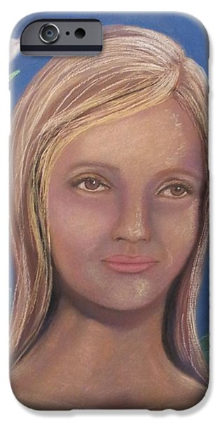 Innocence Pastels iPhone Cases - Elena iPhone Case by Janne Henn