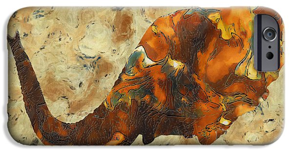 Elephants iPhone Cases - Elephant 2- Happened At The Zoo  iPhone Case by Jack Zulli