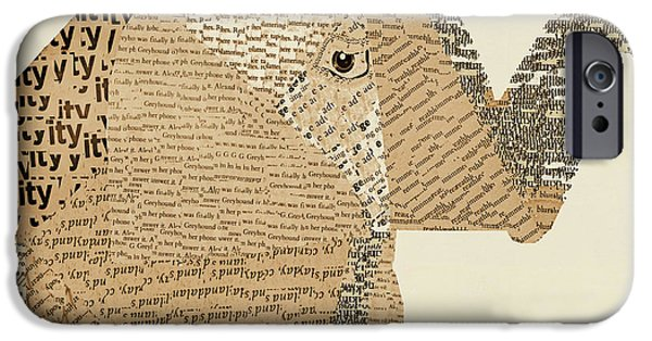 Elephant iPhone Cases - Elephant And Bird iPhone Case by Bri Buckley