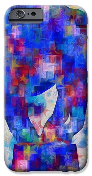 Elephant Blues iPhone Case by Jack Zulli