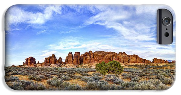 Red Rock iPhone Cases - Elephant Butte iPhone Case by Chad Dutson