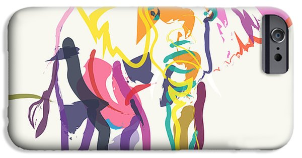Recently Sold -  - Abstract Digital Art iPhone Cases - Elephant in color ecru iPhone Case by Go Van Kampen