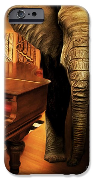 Elephant iPhone Cases - Elephant In The Room 20141225 vertical iPhone Case by Wingsdomain Art and Photography