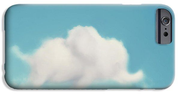Little Boy iPhone Cases - Elephant in the Sky iPhone Case by Amy Tyler