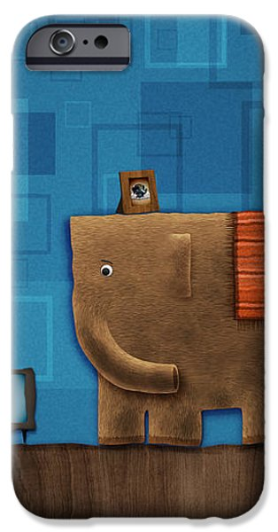 Elephant on the Wall iPhone Case by Gianfranco Weiss