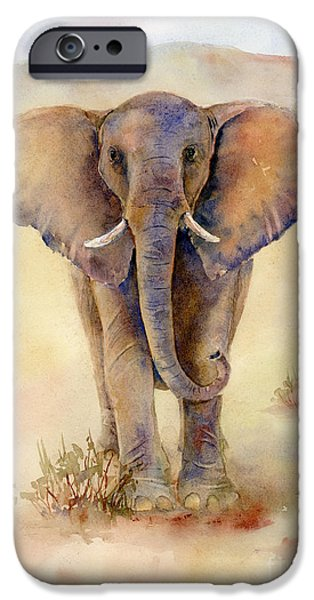 Loxodonta iPhone Cases - Elephant Que iPhone Case by Amy Kirkpatrick