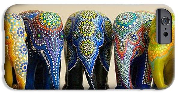 Elephants iPhone Cases - Elephants 8 iPhone Case by Mariusz Czajkowski