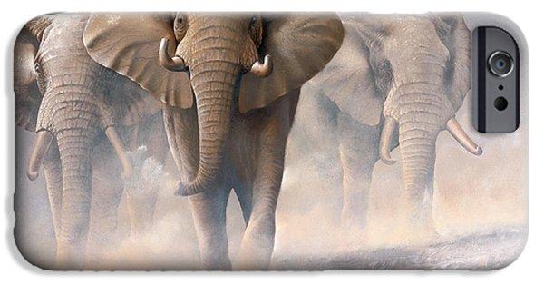 Recently Sold -  - Elephants iPhone Cases - Elephants iPhone Case by Jan Weenink