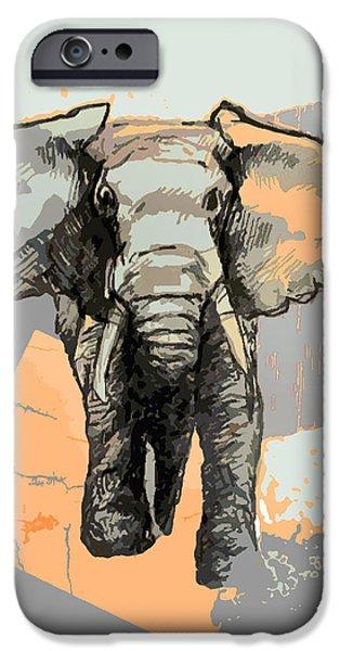Wwf iPhone Cases - Elephants Laugh iPhone Case by Alison Schmidt Carson