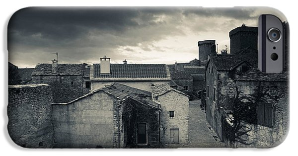 Midi iPhone Cases - Elevated Town View From The Ramparts iPhone Case by Panoramic Images