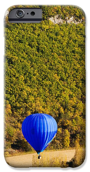 Hot Air Balloon iPhone Cases - Elevated View Of Hot Air Balloon iPhone Case by Panoramic Images