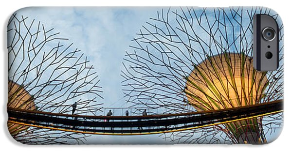 The Tiger iPhone Cases - Elevated Walkway Among Supertrees iPhone Case by Panoramic Images