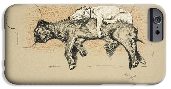 Black Dog iPhone Cases - Elevation, 1930, 1st Edition iPhone Case by Cecil Charles Windsor Aldin