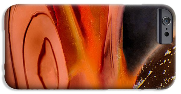Nature Abstracts Glass iPhone Cases - Elfin iPhone Case by Omaste Witkowski