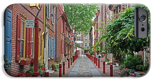 Alley iPhone Cases - Elfreths Alley color 2 iPhone Case by Jack Paolini