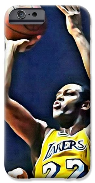 Elgin Baylor iPhone Case by Florian Rodarte