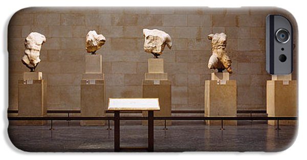 United iPhone Cases - Elgin Marbles Display In A Museum iPhone Case by Panoramic Images