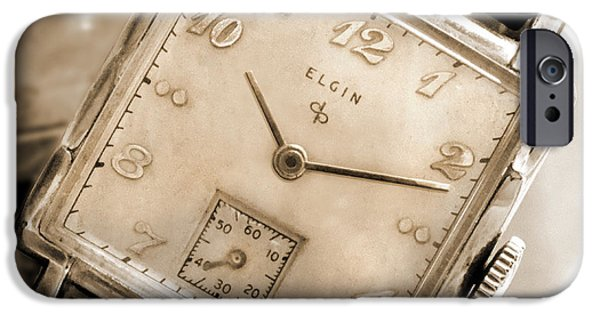 Looking Digital Art iPhone Cases - Elgin Watches iPhone Case by Mike McGlothlen