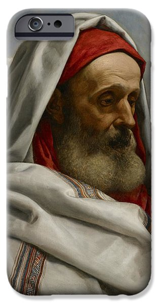 Old Testament iPhone Cases - Eliezer of Damascus iPhone Case by William Dyce