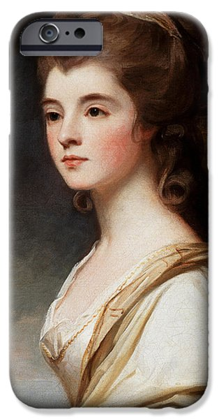Duchess Paintings iPhone Cases - Elizabeth Duchess of Sutherland iPhone Case by George Romney